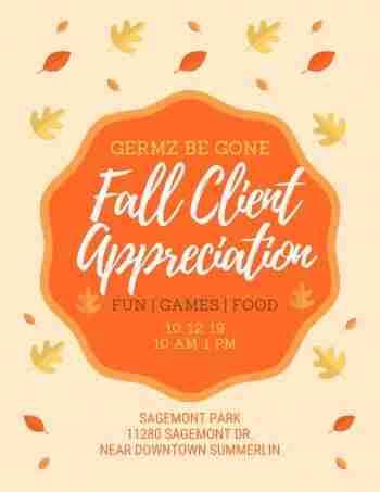 Germz be gone fall picnic https://germzbegone.com at sagemont park summerlin